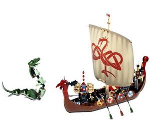 LEGO Viking Ship challenges the Midgard Serpent  Set 7018