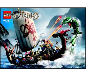 LEGO Viking Ship challenges the Midgard Serpent  Set 7018 Instructions