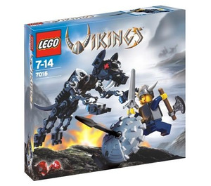 LEGO Viking Warrior challenges the Fenris Wolf Set 7015 Packaging