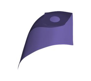 LEGO Violet Standard Cape with Regular Starched Texture (50231)
