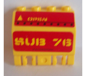 LEGO Wall with forks with Sticker from Set 7776 (44572)