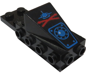 LEGO Wedge 2 x 3 with Brick 2 x 4 Side Studs and Plate 2 x 2 with Decoration (2336)
