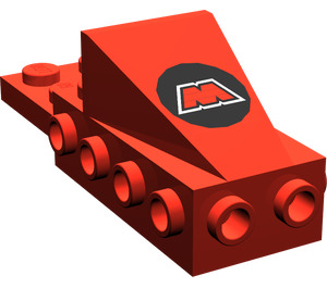 LEGO Wedge 2 x 3 with Brick 2 x 4 with MTron Logo (2336)
