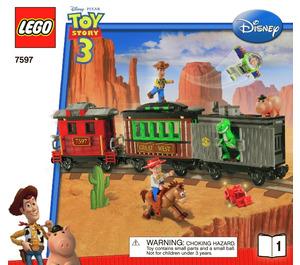 LEGO Western Train Chase Set 7597 Instructions