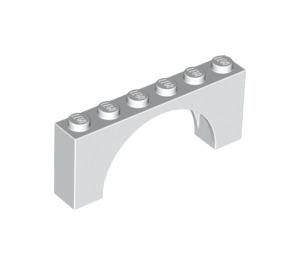 LEGO White Arch 1 x 6 x 2 Medium Thickness Top (15254 / 88845)