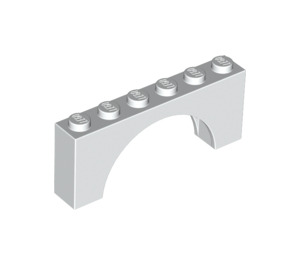 LEGO White Arch 1 x 6 x 2 Thick Top and Reinforced Underside (3307)
