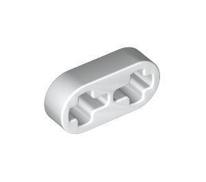 LEGO White Beam 2 x 0.5 with Axle Holes (41677)