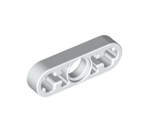 LEGO White Beam 3 x 0.5 with Axle Holes (6632)