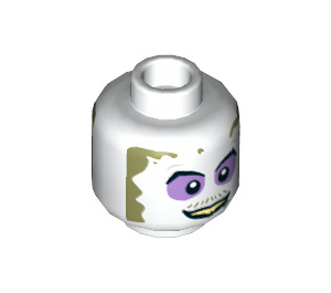 LEGO Beetlejuice Minifigure Head (Recessed Solid Stud) (34320)