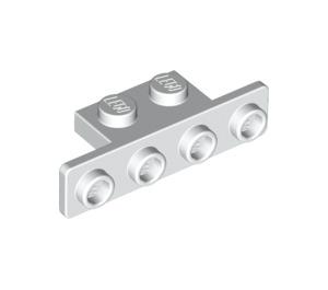LEGO White Bracket 1 x 2 - 1 x 4 with Rounded Corners (2436 / 10201)