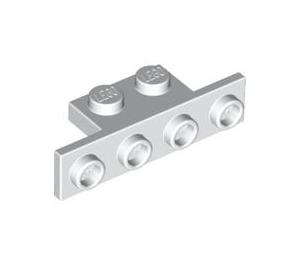LEGO White Bracket 1 x 2 - 1 x 4 without Rounded Corners (2436)