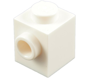 LEGO White Brick 1 x 1 with Stud on One Side (87087)