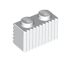 LEGO White Brick 1 x 2 with Grille (2877)