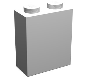 LEGO White Brick 1 x 2 x 2 without Inside Axle Holder or Stud Holder