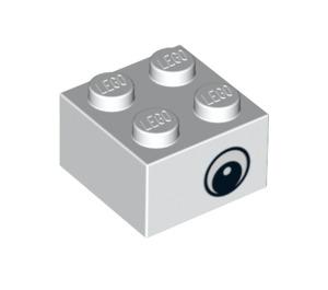 LEGO White Brick 2 x 2 with Eyes (81508 / 88398)