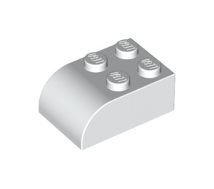 LEGO White Brick 2 x 3 with Curved Top (6215)