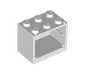 LEGO White Cupboard 2 x 3 x 2 with Solid Studs (4532)