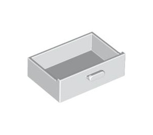 LEGO White Cupboard Drawer (4536)