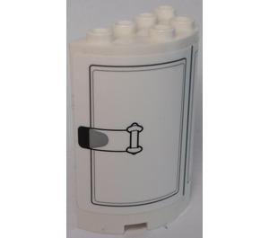 LEGO White Cylinder 2 x 4 x 4 with SW Gun Turrent Hatches Sticker