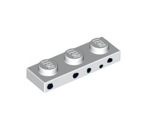 LEGO White Dalmatian Puppycorn Plate 1 x 3 (39033)