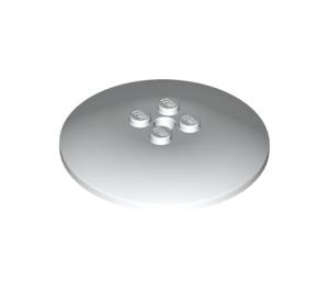 LEGO White Dish 6 x 6 Inverted (Radar) Solid Studs (44375)