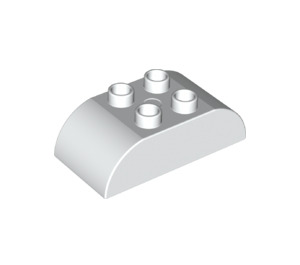 LEGO White Duplo Brick 2 x 4 with Curved Sides (98223)
