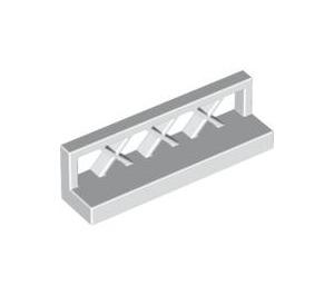 LEGO White Fence Lattice 1 x 4 x 1 (3633)