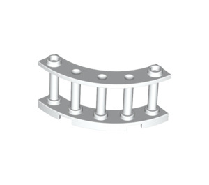 LEGO White Fence Spindled 4 x 4 x 2 Quarter Round with 2 Studs (30056)