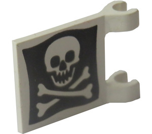 LEGO White Flag 2 x 2 with Jolly Roger