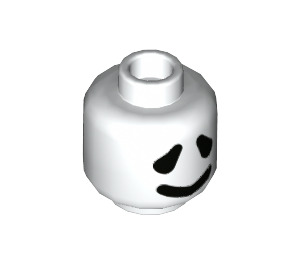 LEGO White Ghost Plain Head (Recessed Solid Stud) (68421)