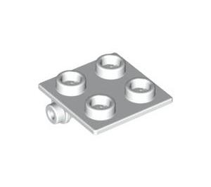 LEGO White Hinge 2 x 2 Top (6134)