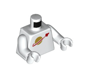 LEGO White Jenny Minifig Torso (76382)