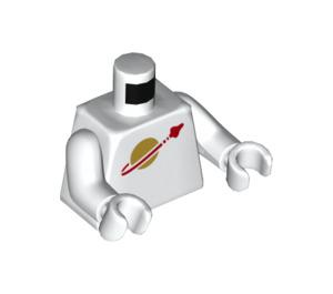 LEGO White Jenny Minifig Torso (76382 / 88585)