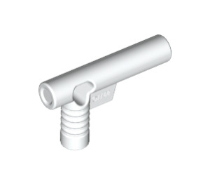 LEGO White Minifig Hose Nozzle with Side String Hole without Grooves (60849)