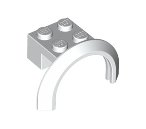 LEGO White Mudguard with Round Arch 4 x 2 1/2 x 2 (50745)