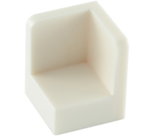 LEGO White Panel 1 x 1 x 1 Corner with Rounded Corners (6231)