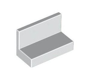 LEGO White Panel 1 x 2 x 1 without Rounded Corners (4865)