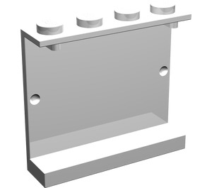 LEGO White Panel 1 x 4 x 3 without Side Supports, Solid Studs (4215)