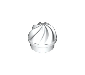 LEGO White Plate 1 x 1 Round with Swirled Top (15470)