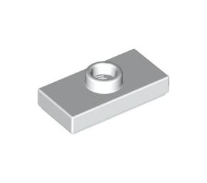 LEGO White Plate 1 x 2 with 1 Stud (with Groove) (3794)