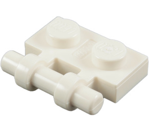 LEGO White Plate 1 x 2 with Handle (Open Ends) (2540)
