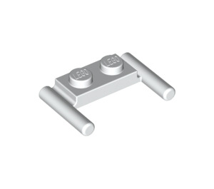 LEGO White Plate 1 x 2 with Handles (Low Handles) (3839)