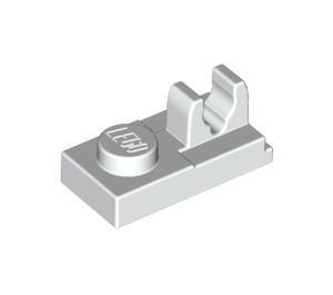 LEGO White Plate 1 x 2 with Top Clip with Gap (92280)