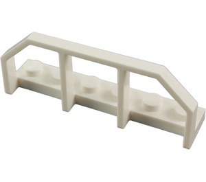 LEGO White Plate 1 x 6 with Train Wagon End (6583)