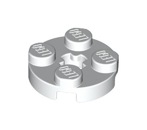 LEGO White Plate 2 x 2 Round with Axle Hole (with 'X' Axle Hole) (4032)