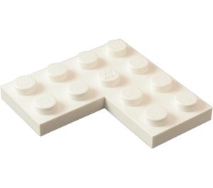 LEGO White Plate 4 x 4 Corner (2639)