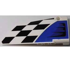 LEGO White Right Panel 18 with Air Intake and Black and White Tiles Sticker