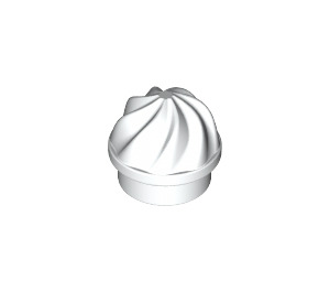 LEGO White Round Plate 1 x 1 with Swirled Top (15470)