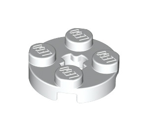 LEGO White Round Plate 2 x 2 with Axle Hole (with 'X' Axle Hole) (4032)