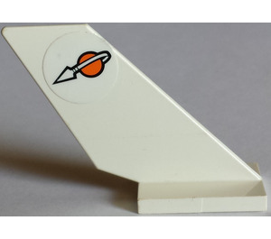 LEGO White Shuttle Tail 2 x 6 x 4 with Sticker from Set 7692